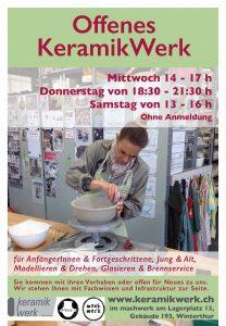 offenes KeramikWerk am Donnerstag